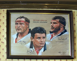 England Rugby memorabilia at The Prince of Wales Pub Weybridge Surrey