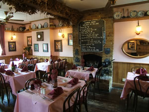 The attractive Dining Room / Restaurant at The Prince of Wales Pub Weybridge Surrey - close to Walton-on-Thames Surrey